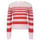 RN4ROSSO / ROS striped cotton crew neck sweater