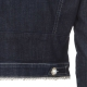 Denim jacket with CDPE pearls