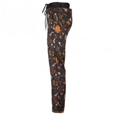 Pantaloni a fiori arancio con doppia fascia in vita FANTASYUNIQU