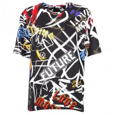 T-shirt morbida graffiti Future 0008BLACK