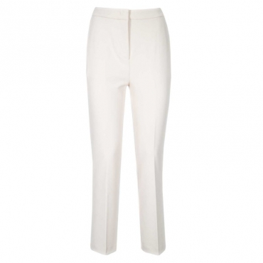 Pantalone stretch in crepe Z01WHITE