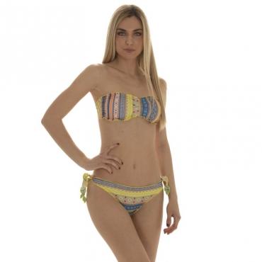 Bikini fascia e slip nodi frou-frou Bahia Blanca UNI