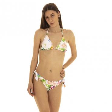 Bikini con bordatura a rouches 15R