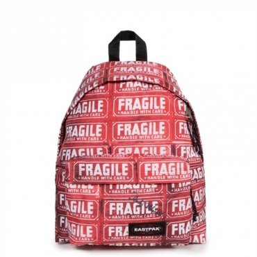 Zaino rosso Andy Warhol Padded Pakr FRAGILE