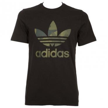 T-shirt nera con logo camo BLACK/MULTCO