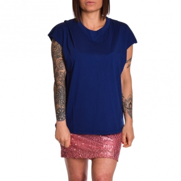 T-shirt girocollo in cotone INDACO