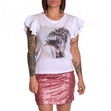 T-shirt moda manica corta BCO OTT PURPLE PALM