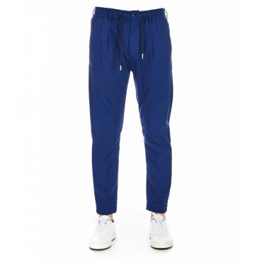 Jogger-style Chinos blu