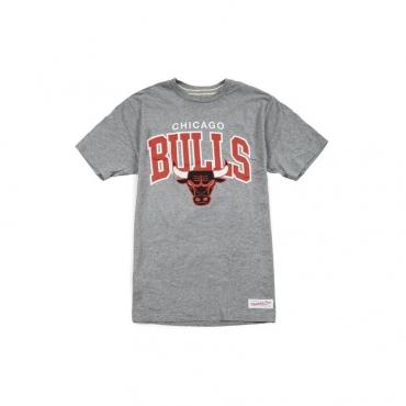 MAGLIETTA MITCHELL  NESS T-SHIRT NBA CHICAGO BULLS TEAM ARCH Grey unico