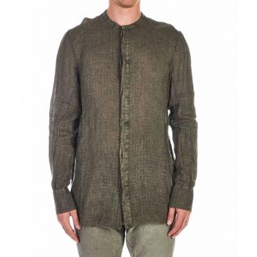 Camicia con struttura grigio