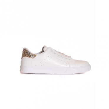 Sneaker retro glitter BIANCO/ORO