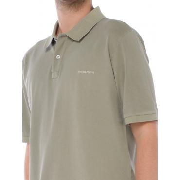 Woolrich Polo Manica Corta Uomo Verde