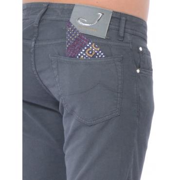 Jacob Cohen Pantalone 5 Tasche Uomo Grigio