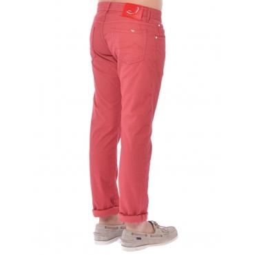Jacob Cohen Pantalone 5 Tasche Uomo Rosso