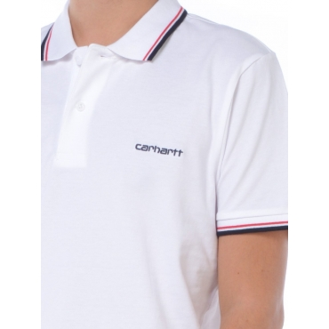 Carhartt Polo Manica Corta Uomo Bianco