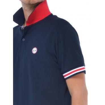Sun68 Polo Manica Corta Uomo Blu