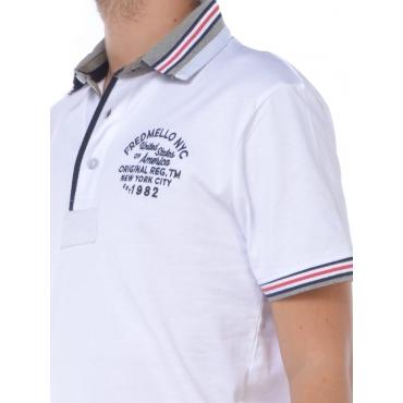 Fred Mello Polo Manica Corta Uomo Bianco
