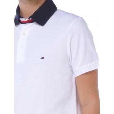 Tommy Hilfiger Polo Manica Corta Uomo Bianco