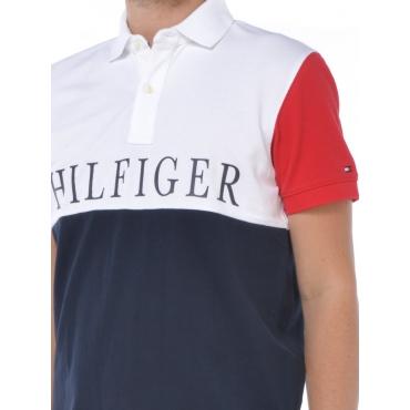 Tommy Hilfiger Polo Manica Corta Uomo Blu