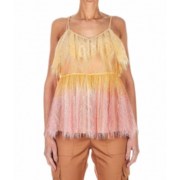 Top in pizzo pink