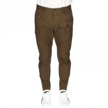 PANTALONE SEXY CARGO DSQUARED2 OLIVE GREEN