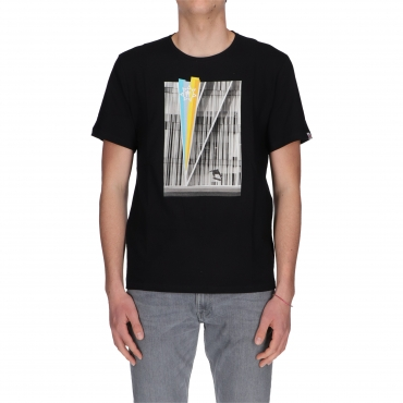 T-SHIRT SASCHA SS GEOM ELEMENT FLINT BLACK