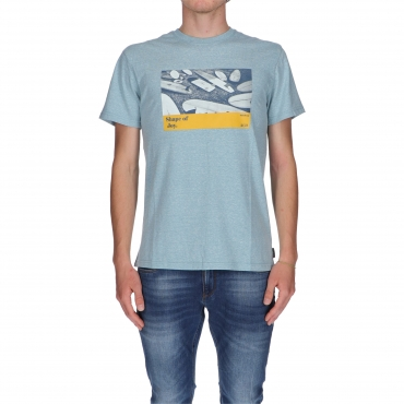 T-SHIRT DYNAMICS SURFBOARDS BILLABONG AQUA BLUE