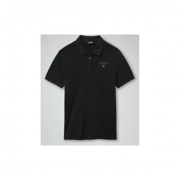Polo Napapijri Uomo Jersey Elli Cotone 041 BLACK
