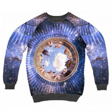 FELPA GIROCOLLO MINIMARKET SWEATSHIRT CREWNECK SOFFITTO BLU All Over unico