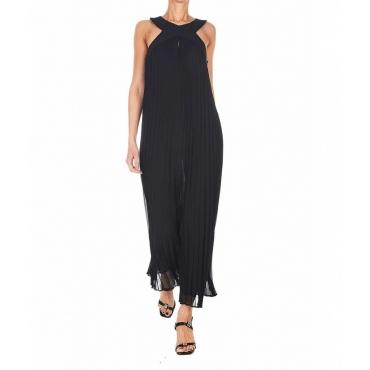 Vestito plissettato nero