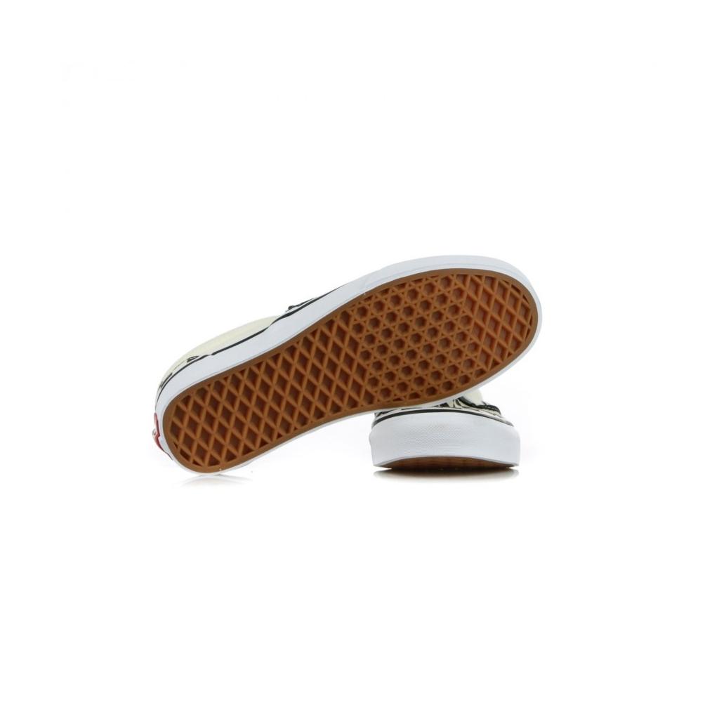 SCARPA BASSA CLASSIC SLIP-ON BLACK/WHITE/WHITE