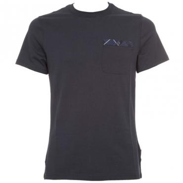 T-Shirt Durness Pocket in cotone NY91NAVY