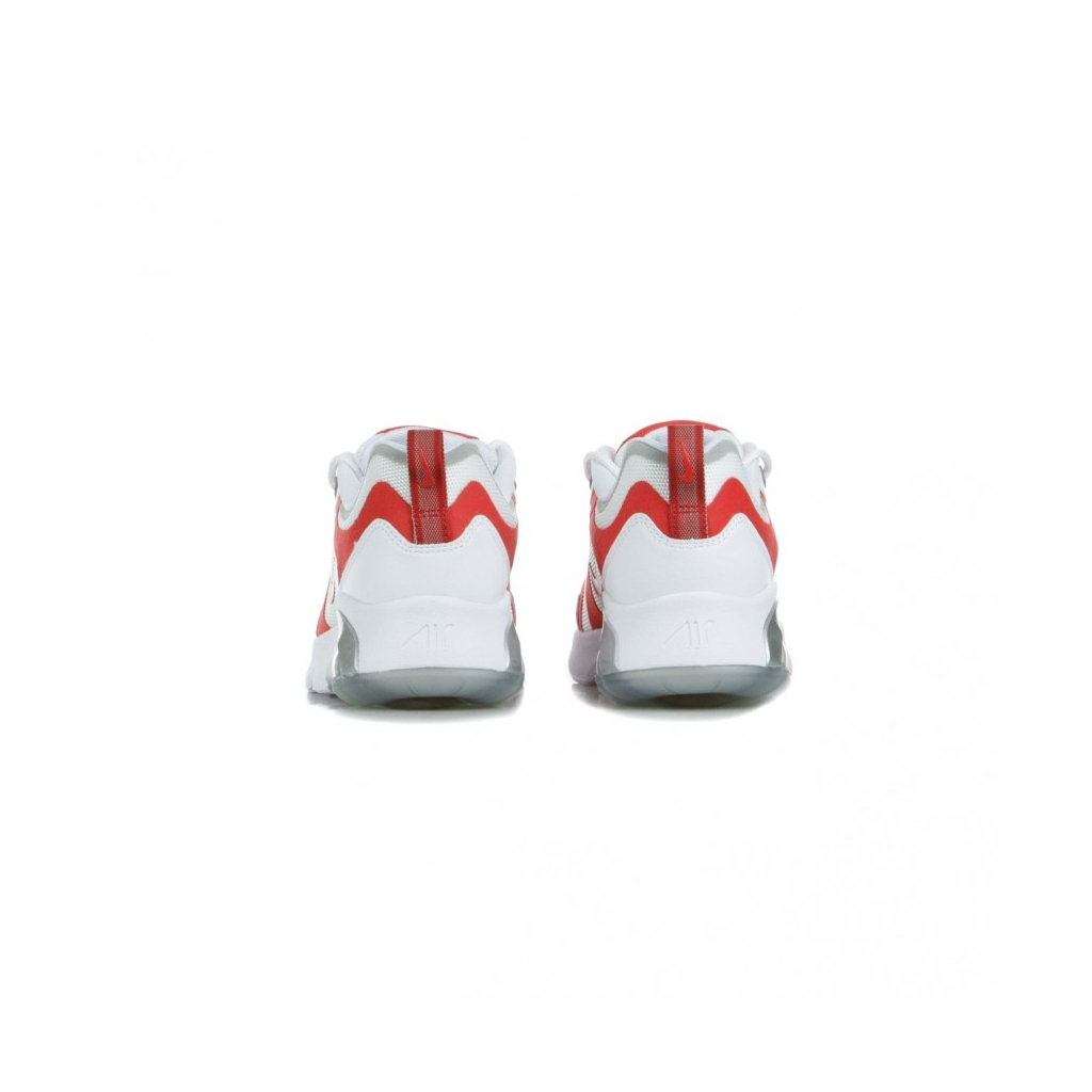 SCARPA BASSA AIR MAX 200 WHITE/UNIVERSITY RED/METALLIC SILVER