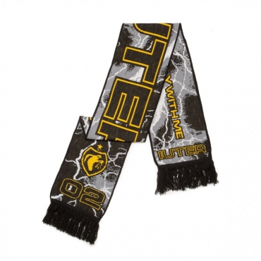 SCIARPA SOCCER SCARF BLACK/YELLOW