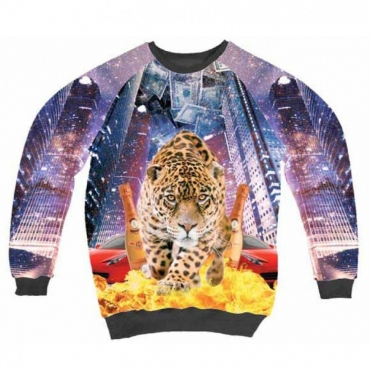 FELPA GIROCOLLO MINIMARKET SWEATSHIRT CREWNECK TIGRE All Over unico
