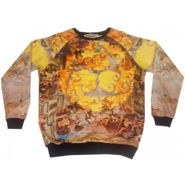 FELPA GIROCOLLO MINIMARKET SWEATSHIRT CREWNECK SOFFITTO ARANCIO All Over unico
