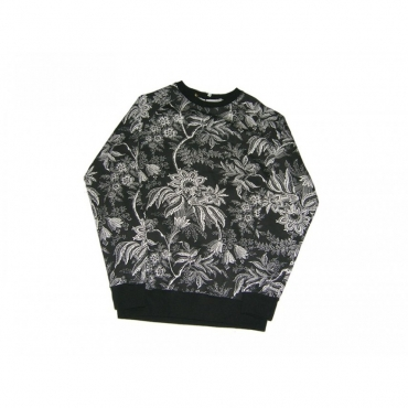 FELPA GIROCOLLO MINIMARKET SWEATSHIRT CREWNECK FIORE INDIANO BLACK All Over unico
