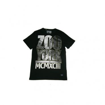 MAGLIETTA ZOO YORK T-SHIRT MCMXCII BRIDGE Black/Grey/Gold unico