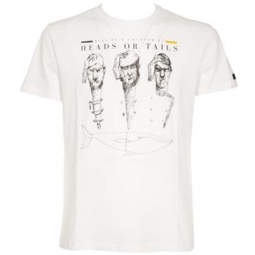 T-Shirt Shirty Heads Or Tails 09BIANCO