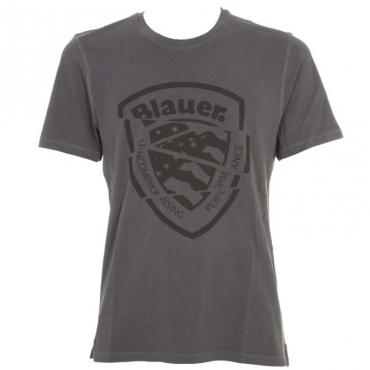 T-Shirt grigia con stampa logo 892BLUCADETT