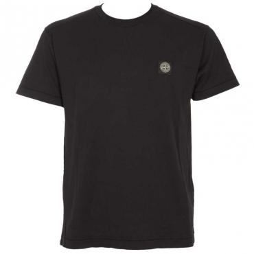 T-shirt tinta in capo con logo V0020BLEU
