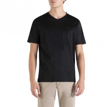 T-Shirt in cotone con scollo a V 011