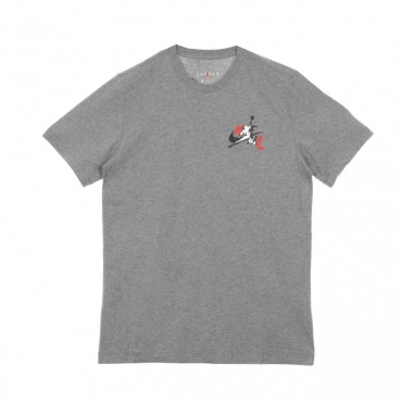MAGLIETTA JUMPMAN GRAPHIC TEE CARBON HEATHER/WHITE