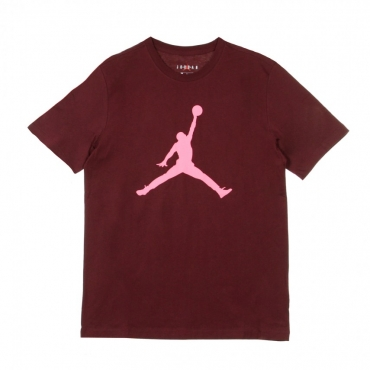 MAGLIETTA JUMPMAN CREW NIGHT MAROON/DIGITAL PINK