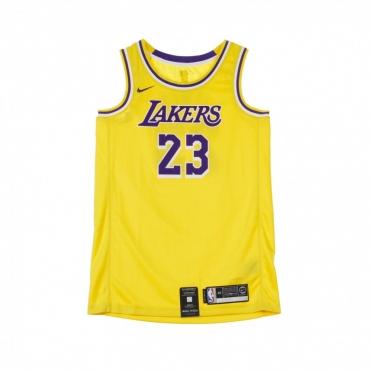 CANOTTA BASKET NBA SWINGMAN JERSEY NO23 LEBRON JAMES LOSLAK ROAD AMARILLO/FIELD PURPLE/WHITE