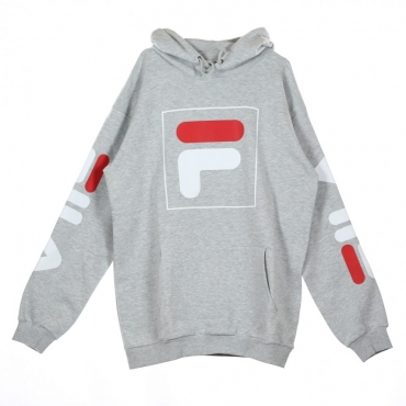 FELPA CAPPUCCIO TOTAL HOOD 20 LIGHT GREY MELANGE