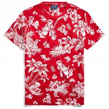 T-shirt Orsetto Hawaiano Rosso REDBEARWAIIA