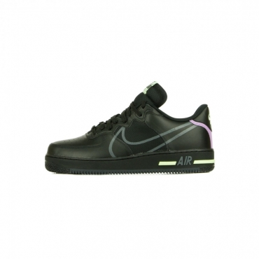 SCARPA BASSA AIR FORCE 1 REACT BLACK/ANTHRACITE/VIOLET STAR/BARELY VOLT