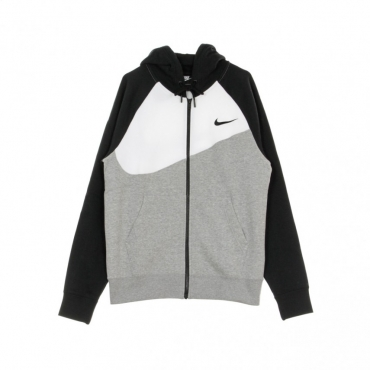 FELPA CAPPUCCIO ZIP SWOOSH HOODIE BB FZ DK GREY HEATHER/WHITE/BLACK/BLACK