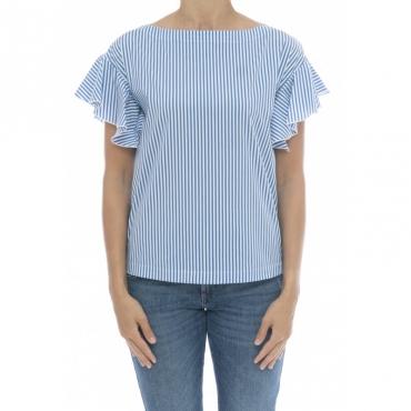 Camicia donna - 6320 65236 camicia rigata 007 - Azzurro